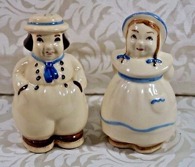Large Vintage Shawnee Dutch Boy And Girl Salt And Pepper Shaker Set
