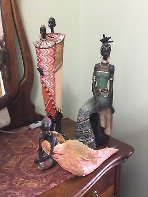 Afican Tribe Statue all 3 for 1 price