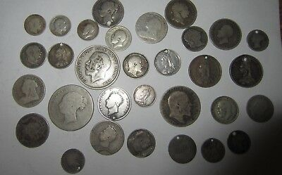 Gb Solid Silver Coins All Pre 1920