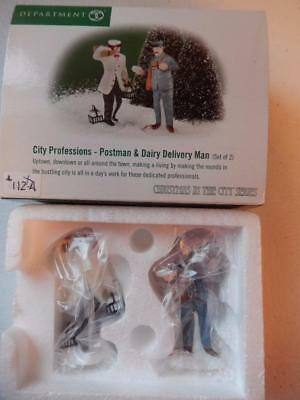 Department 56 - (NEW) City Professions Postman & Delivery Man (Free Shipping)