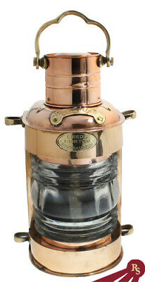"14"" BRASS LANTERN - Oil Lamp - ENGLISH CARGO LIGHTS"