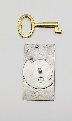 Terry Antique Clock Door Steel Lock and Brass Key NEW Reproduction
