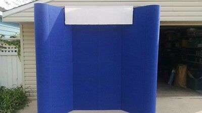 Nimlok 10' Freestanding Display with lighting and 2 Cases Blue Great Shape