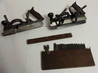 Antique Stanley #45 combination planes (2) with cutter blades