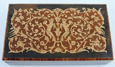 Vintage Reuge Swiss Music Jewelry Box Wood Inlay NO RESERVE!