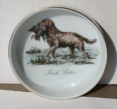 Irish Setter Hi Mark Made in Japan Porcelain with Gold Trim Ashtray-Hand Painted