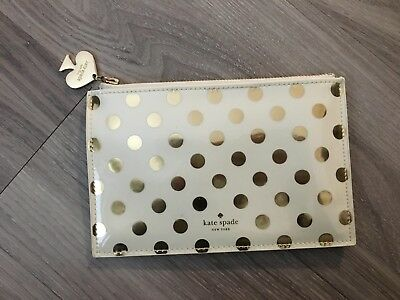Kate Spade Pre-Owned Pencil Supply Pouch Gold Dot Print