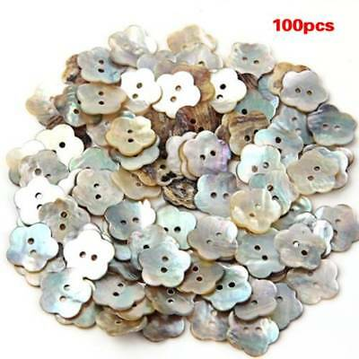100x15mm Pearl Buttons Mother of Pearl Shell Flower Button C7P2