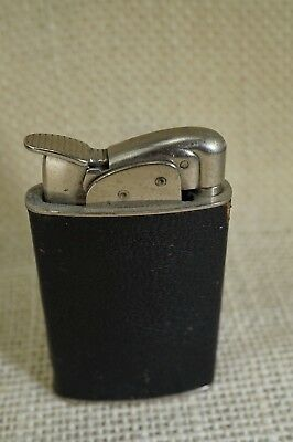 Evans Leather Wrap Lighter. 2 1/2 inch Tall