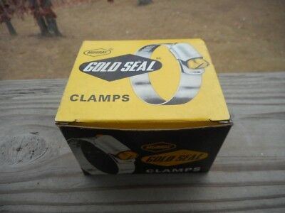 Vintage Box of 10 Murray Gold Seal Stainless Steel Hose Clamps Thumb Screw T 12