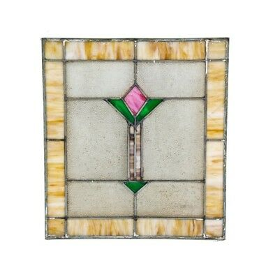 American Arts & Crafts Style Interior Residential Leaded Art Glass Window