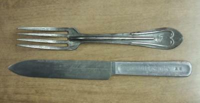 Nice Original Mess Fork And Knife Both Marked R.I.A. 1904