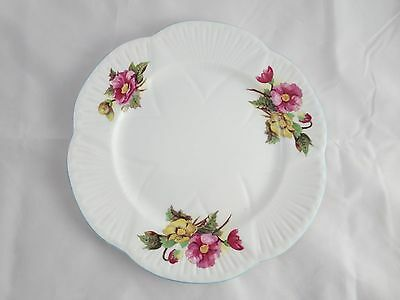 Fine Bone China Shelley Teapot Saucer Plate Floral Pink / Yellow Rd 272101