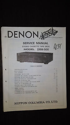 Denon drm-500 service manual original repair book stereo tape deck player