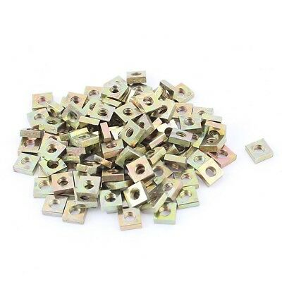 M3x5.5x2mm Zinc Plated Square Nuts Bronze Tone 100pcs M8U9
