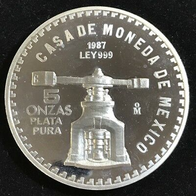 5oz. .999 Fine Silver Casa De Moneda De Mexico. 200th Ann. of US Constitution.SC