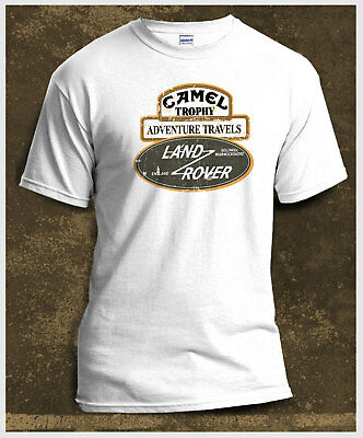 Camel Trophy Land Rover Range Rover Discovery Series 3 Print Whitel T-shirt