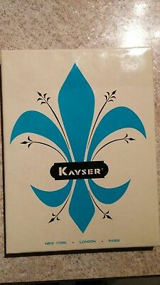 New 2 Pair Of Kayser Nylon Hosiery In Original Box 10 Med. Saucy Taupe Seamless