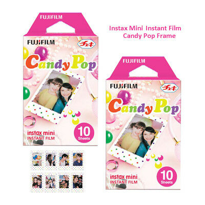 20 Sheets Candy Pop Fujifilm Instax Mini Instant Film - Fuji 7s 8 9 Camera SP-2