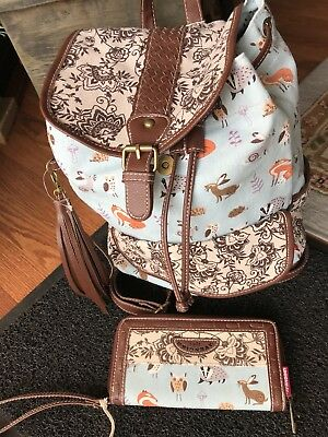 UNION BAY Backpack & Matching Wristlet Wallet-Fox, Owl, Super Cute- NWT