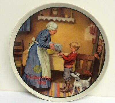 """Norman Rockwell """"The Pantry Raid"""" limited edition plate"""