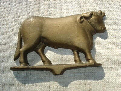 Late 19th Century Gloecklers Cast Iron Bull Sign for Antique Butcher Meat Rack
