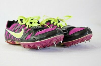 Nike Sprint Zoom Rival S Womens 4.5 Neon Track & Field Cleats With Key Wrench