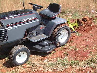 Garden Tractor 18 HP, with 3 Point Hitch Attachment 6 Speed with High/Low Trans.