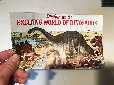 Vintage 1966 Sinclair Oil Gas Advertising Promo - Exciting World of Dinosaurs