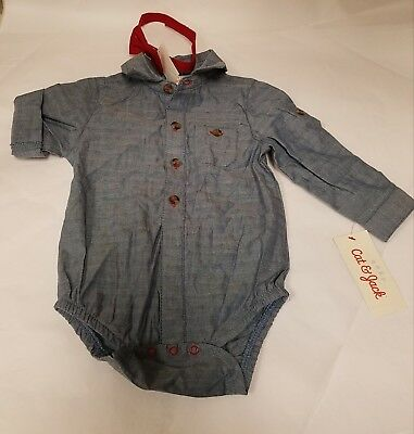Baby Boys' Jacquard Shirt and Bowtie by Cat & Jack Size 6-9 months