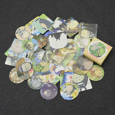 Pack of 46 Totoro Paper Stickers PVC Japanese Anime Fans Gift Cartoon Crafts DIY