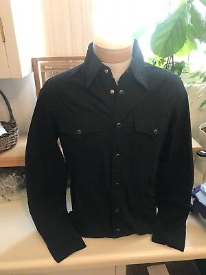 True Religion Mens Western Style Black Button Up Shirt, Size Small, New !