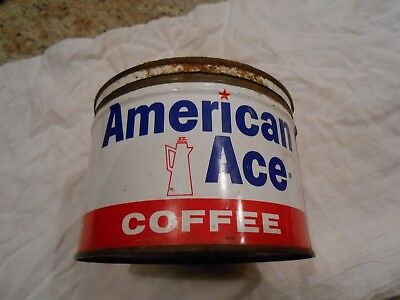 American Ace One Pound Coffee Tin