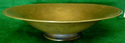 """JUST ANDERSON Art Deco Moderne Bronze Footed Bowl w/ Old Patina 10"""" Cool MCM"""