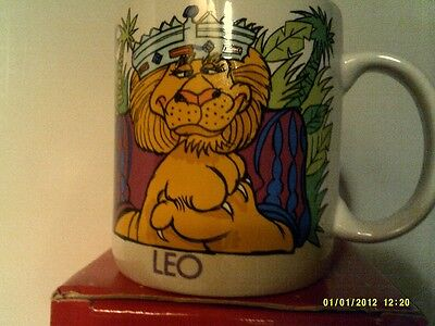RARE VTG 1983 Avon  SIPS AND SIGNS ASTROLOGY MUG-  LEO -NEW IN BOX-FREE SHIPPING