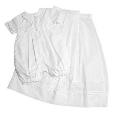 Boys Christening Convertible Romper Gown Cotton Blend Petit Ami NWT 12m
