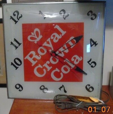 RC Royal Crown Cola lighted PAM advertising clock working