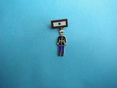 WWII home front sterling Son in Service pin with sterling Marine figure