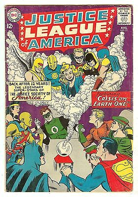 Justice League Of America 21   Crisis on Earth-One   re-intro JSA in this title
