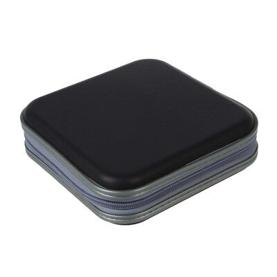 40 CD DVD Disc Storage Carry Case Cover Holder Bag Hard Box - Black W2Z8
