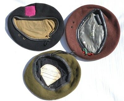 Lot Of 3 Vintage Beret Cap Hat Military Foreign Army's Vietnam War Or Later #1