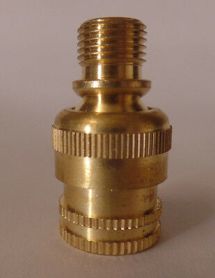 """Unfinished Brass Knurled Lamp Swivel For Lamps & Fixtures,1/8M X 1/8F,1 1/4"""" ht."""