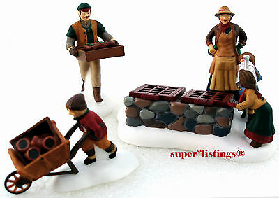 Dept. 56 Tending The Cold Frame Set of 3 Retired Dickens Village 58416