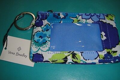 """Vera Bradley  Zip Id Case """"blueberry Blooms"""" Pretty Pattern!  New With Tags-$14"""