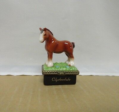 Clydesdale with Horseshoe PHB Midwest of Cannon Falls Trinket Box with Box