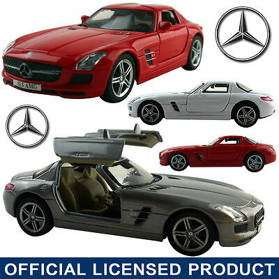 1:37 SLS AMG DieCast Model Car Kid Pull Back Collection Vehicle Gift Toy