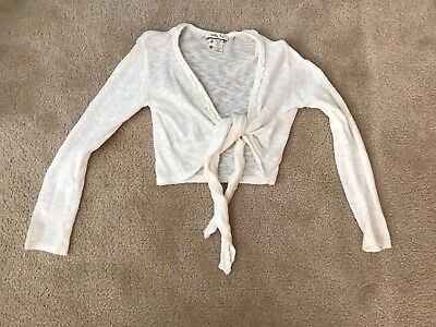 MATILDA JANE GIRLS SHRUG Tie Front Ballerina SWEATER EUC Sz 10