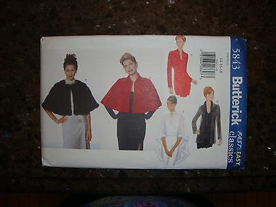5 WAY - LOVELY Retro  CAPE Butterick Classics 5843 Sewing Pattern 14-16-18