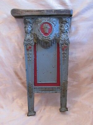 Fabulous Art Deco Plaque or Repurposed Theater Seat Side, Reclaimed Salvage
