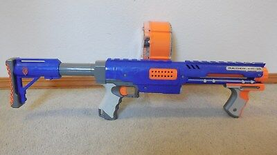 Nerf N-Strike Raider Rapid Fire CS-35 Dart Gun Works Great~ w/Darts, Drum, Stock